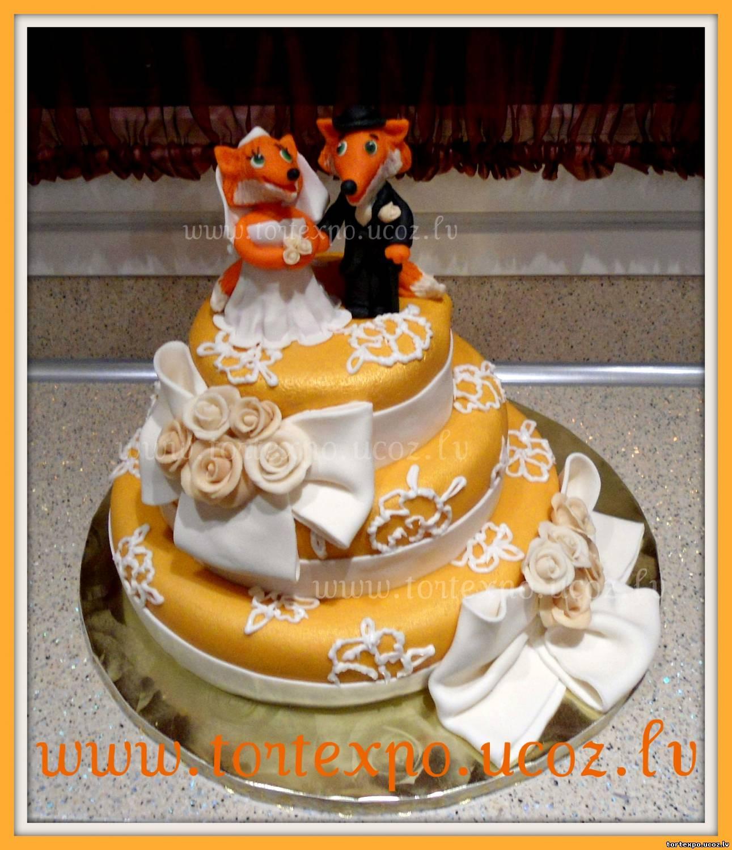 Торт с лисами 2 фотография