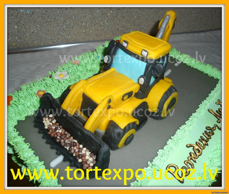 3 D торт Трактор. Как сделать 3D торт для мальчика 19