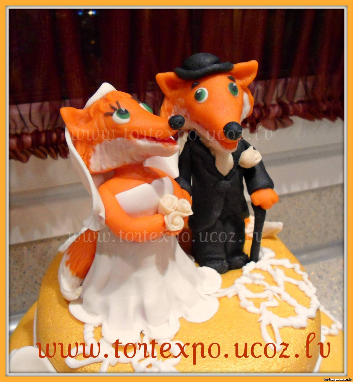 Торт с лисами 7 фотография